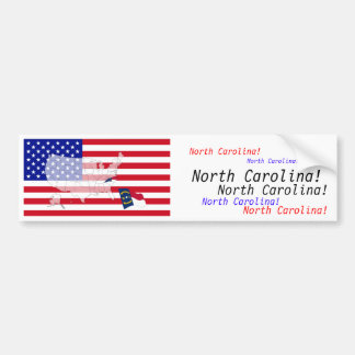 North Carolina, USA Bumper Sticker
