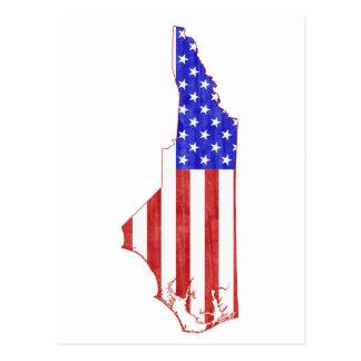North Carolina USA flag silhouette state map Postcard