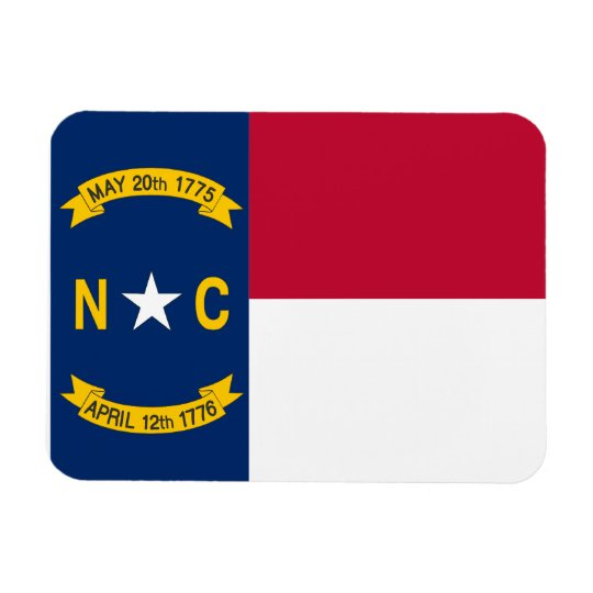 North Carolinian Flag Rectangular Photo Magnet