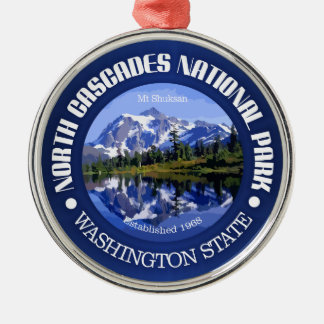 North Cascades National Park Silver-Colored Round Decoration