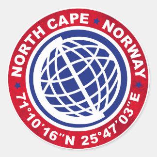 NORTH CASTRATES SPECIAL NORWAY ROUND STICKER