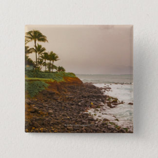 North Coast, Maui, Hawaii, USA 15 Cm Square Badge