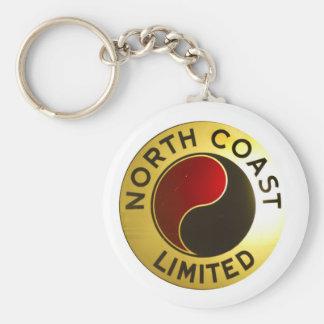 North Coast Railroad Sign Keychain