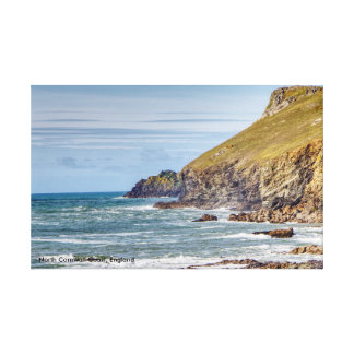 North Cornwall Coast, England Canvas Print