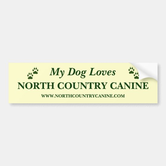 North Country Canine Bumper Sticker