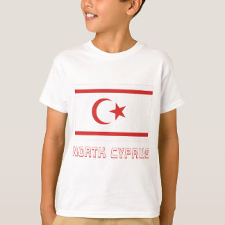 North Cyprus Flag with Name T-Shirt