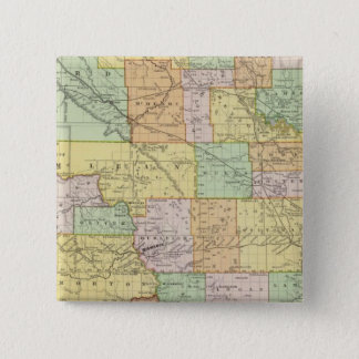 North Dakota 15 Cm Square Badge