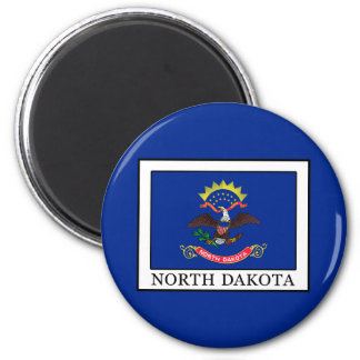North Dakota 6 Cm Round Magnet