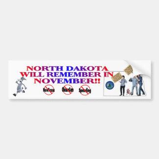 North Dakota - Anti ObamaCare, New Taxes, Spending Bumper Sticker