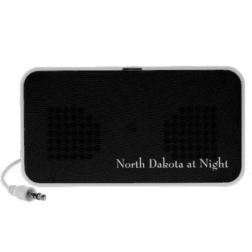 North Dakota at Night Portable Speakers
