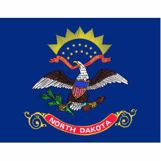 North Dakota Flag Magnet Cut Out