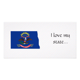 North Dakota Flag Map Card