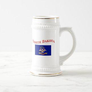 North Dakota Flag Beer Steins