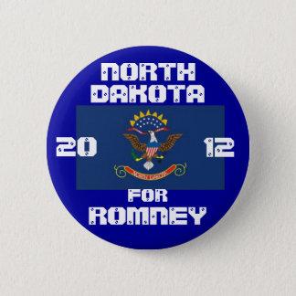 North Dakota for Romney 2012 6 Cm Round Badge