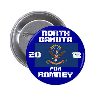 North Dakota for Romney 2012 6 Cm Round Badge