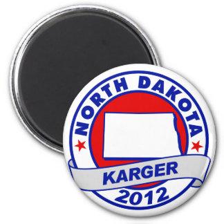 North Dakota Fred Karger 6 Cm Round Magnet