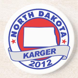 North Dakota Fred Karger Beverage Coasters