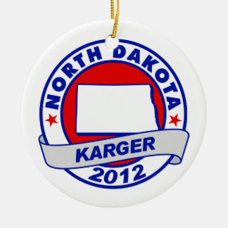 North Dakota Fred Karger Christmas Ornaments