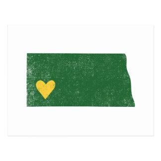 North Dakota Heart card (green) - Customizable! Postcard