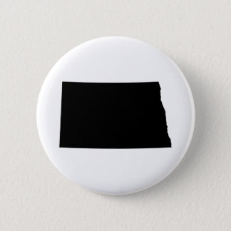 North Dakota in Black and White 6 Cm Round Badge