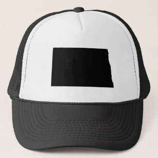 North Dakota in Black and White Trucker Hat