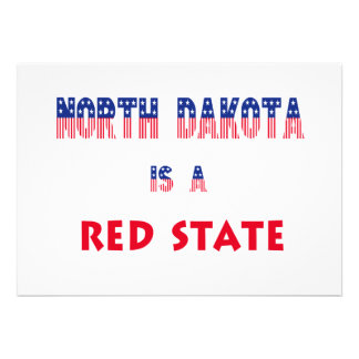 North Dakota is a Red State Personalized Announcement