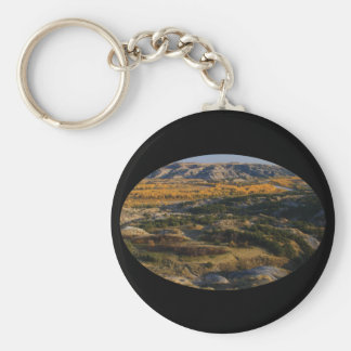 North Dakota Landscape Basic Round Button Key Ring