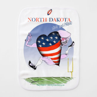 north dakota loud and proud, tony fernandes baby burp cloth