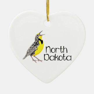 North Dakota Meadowlark Christmas Ornament
