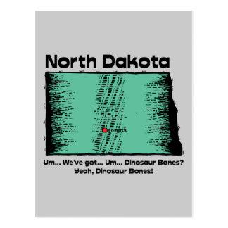 North Dakota ND Motto We ve got Dinosaur Bones Postcard