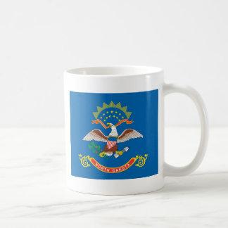 North Dakota  Official State Flag Basic White Mug