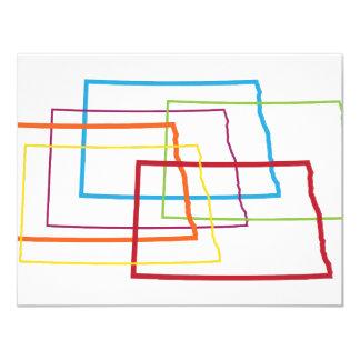 north dakota pride blur 11 cm x 14 cm invitation card