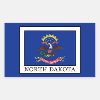 North Dakota Rectangular Sticker