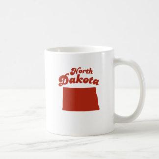NORTH DAKOTA Red State Basic White Mug