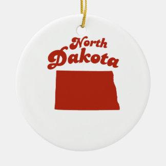 NORTH DAKOTA Red State Christmas Ornament