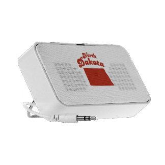 NORTH DAKOTA Red State Laptop Speakers