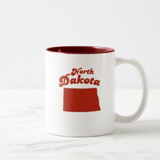 NORTH DAKOTA Red State Two-Tone Mug