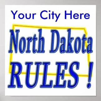 North Dakota Rules ! Poster