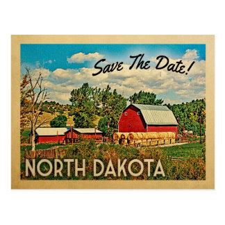 North Dakota Save The Date Farm Barn Rustic Postcard