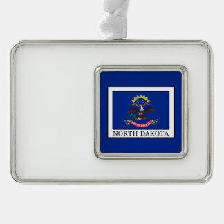 North Dakota Silver Plated Framed Ornament