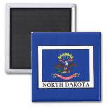 North Dakota Square Magnet