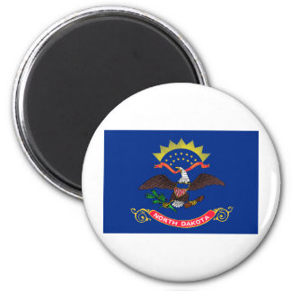North Dakota State Flag 6 Cm Round Magnet