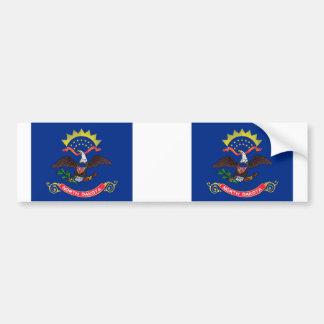 North Dakota State flag Car Bumper Sticker