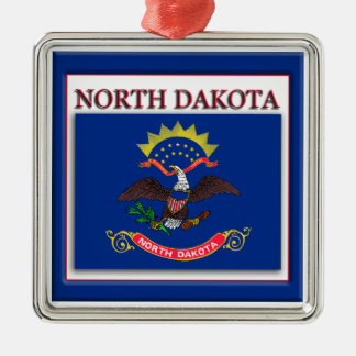 North Dakota State Flag Christmas Ornament