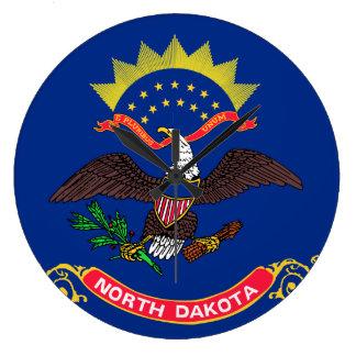 North Dakota State Flag Wall Clocks