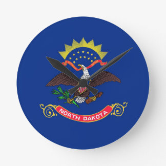 North Dakota State Flag Wallclock