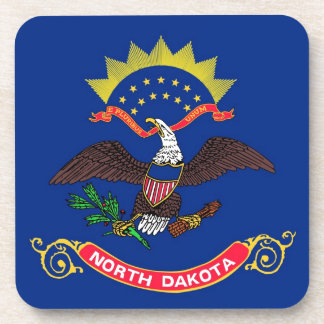 North Dakota State Flag Coasters