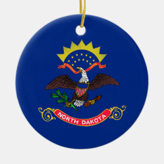 North Dakota State Flag Christmas Tree Ornament
