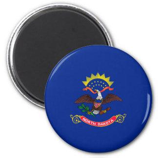 North Dakota State Flag Design 6 Cm Round Magnet