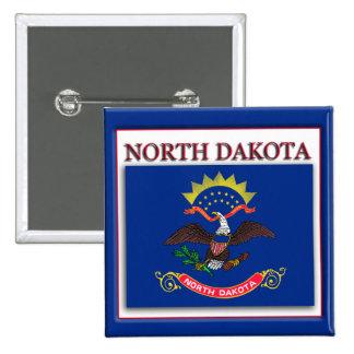 North Dakota State Flag Design Button